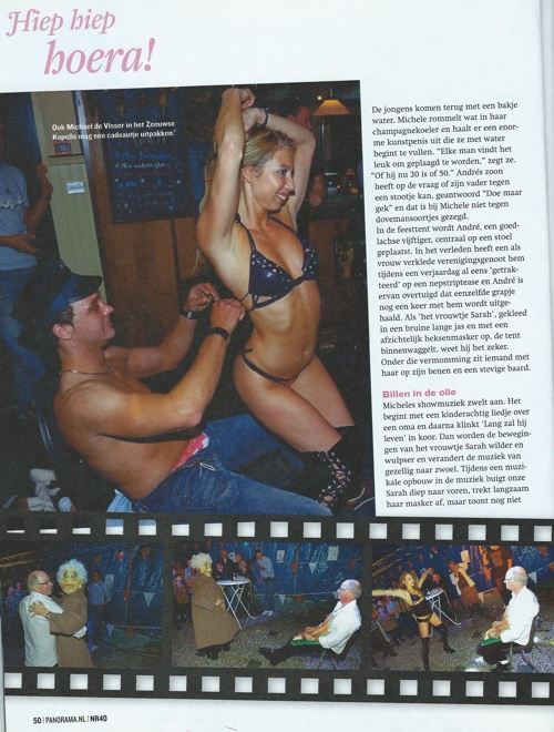 Striptease Michele in Panorama magazine