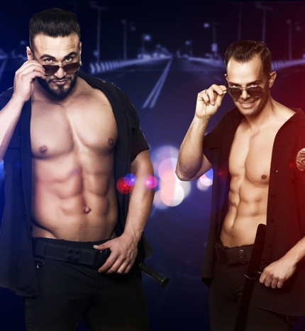 Mannelijke strippers Kevin en Helios België