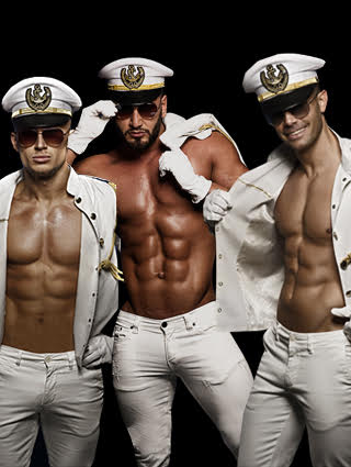 Strippers in marine thema
