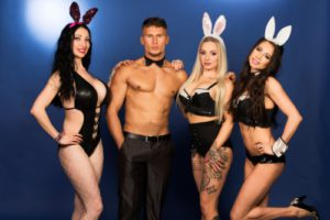 playboy bunny's met sexy butler